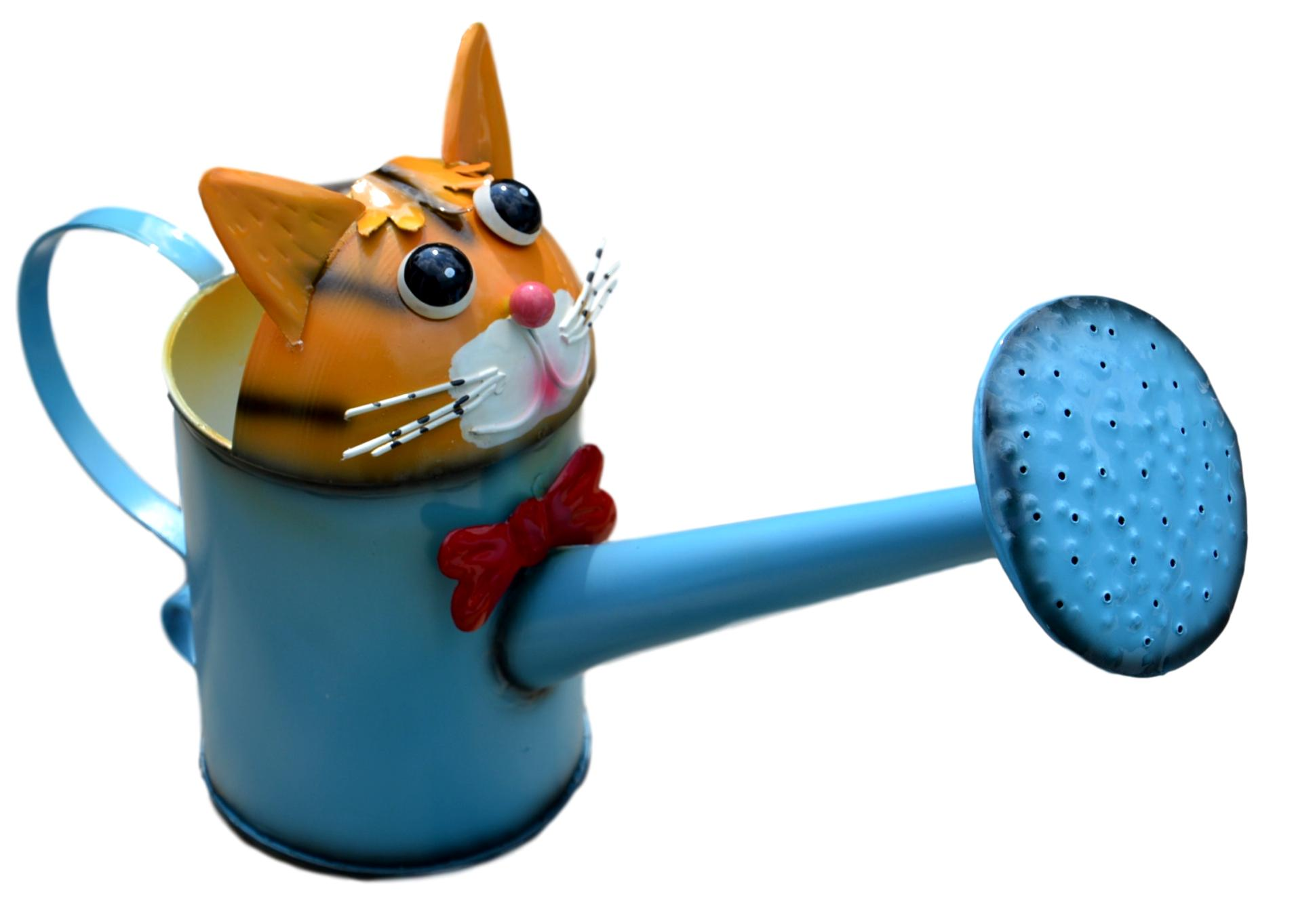Clive the Cat Metal Watering Can