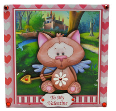 Cupid Kitty Valentine Card