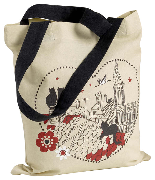 Black Cats in a Heart Tote Bag