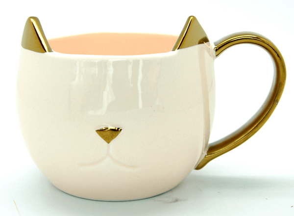 Chloe Pinky Up Ceramic Pink Cat Mug