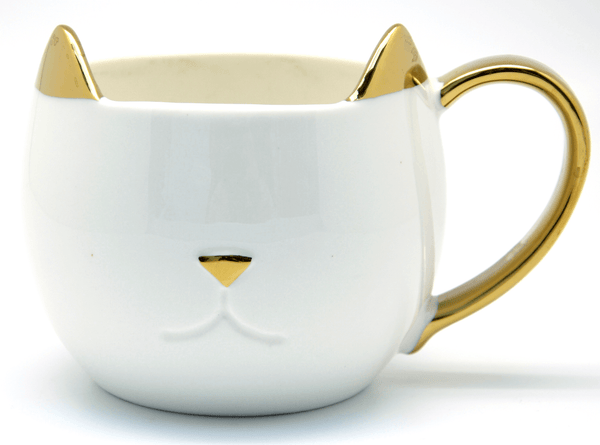 Chloe Pinky Up Ceramic Cat Mug