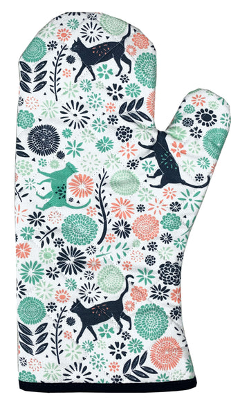 Vicky Yorke Kitchen Cats Oven Glove / Gauntlet