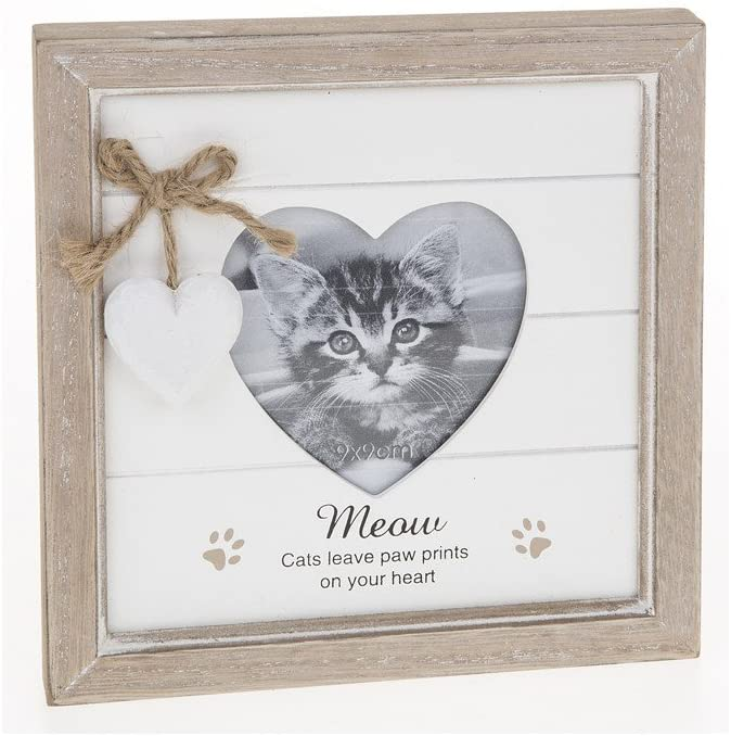 Cats Leave Pawprints Wooden Cat Photo Frame