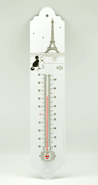 Dubout Cats - Eiffel Tower Cat Garden Thermometer (Tour Eiffel Chat)