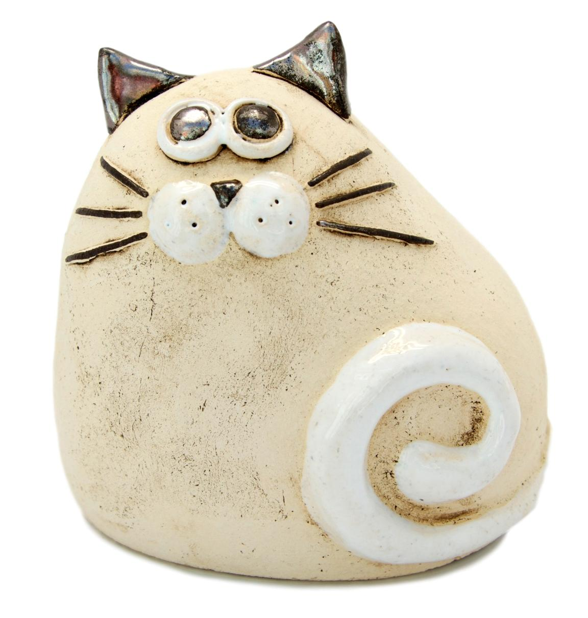 Ceramic Natural Chubby Cat