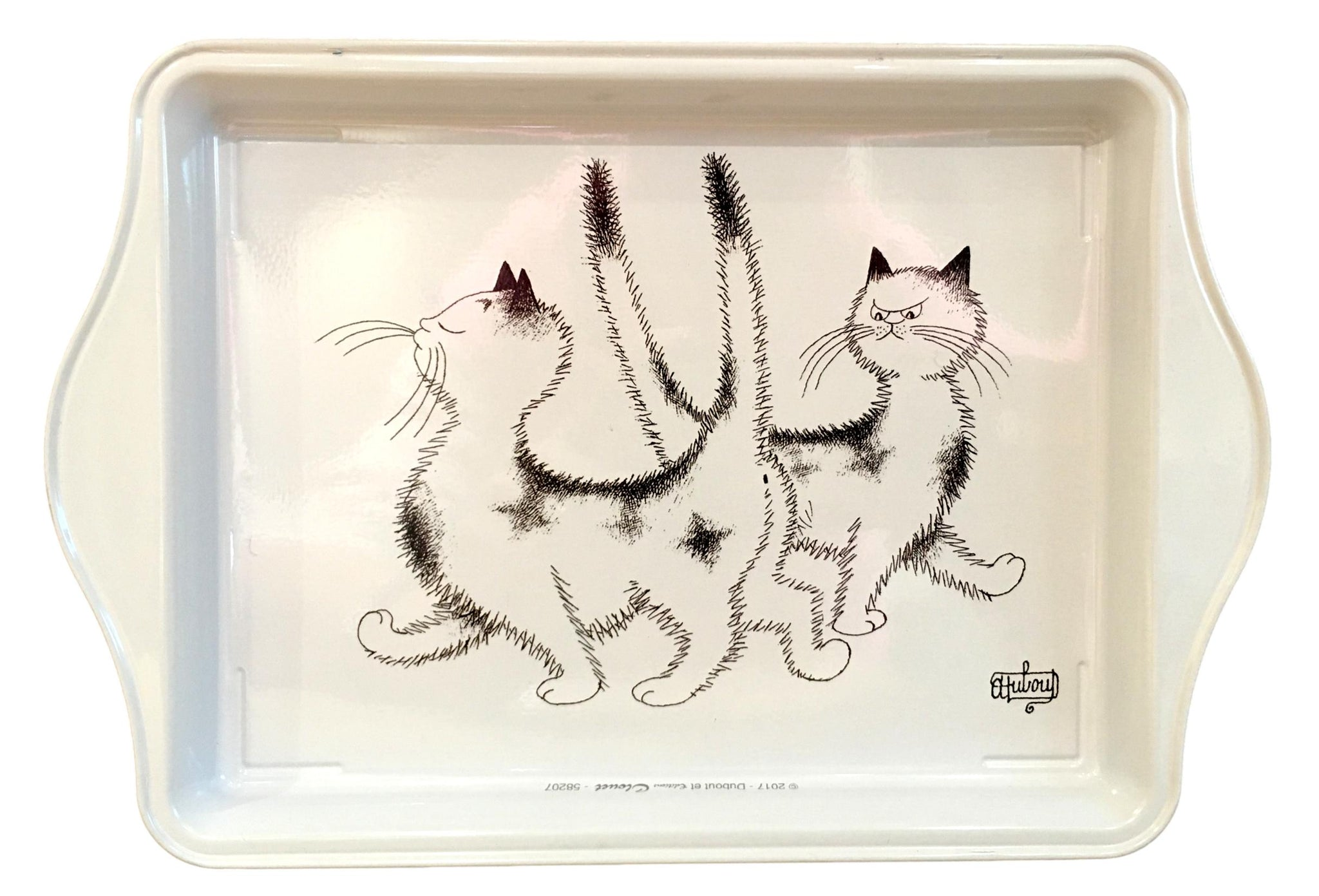 Dubout Cats - Heck, the Same Dress Metal Scatter Tray (Pimbeche)