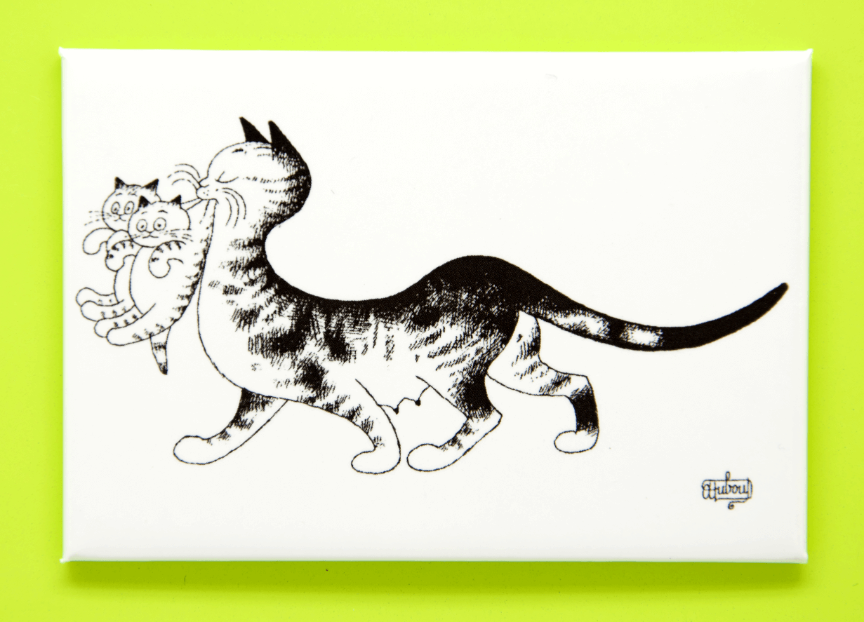 Dubout Cats Fridge Magnets (Landscape)