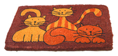 Cat Family Coir Doormat