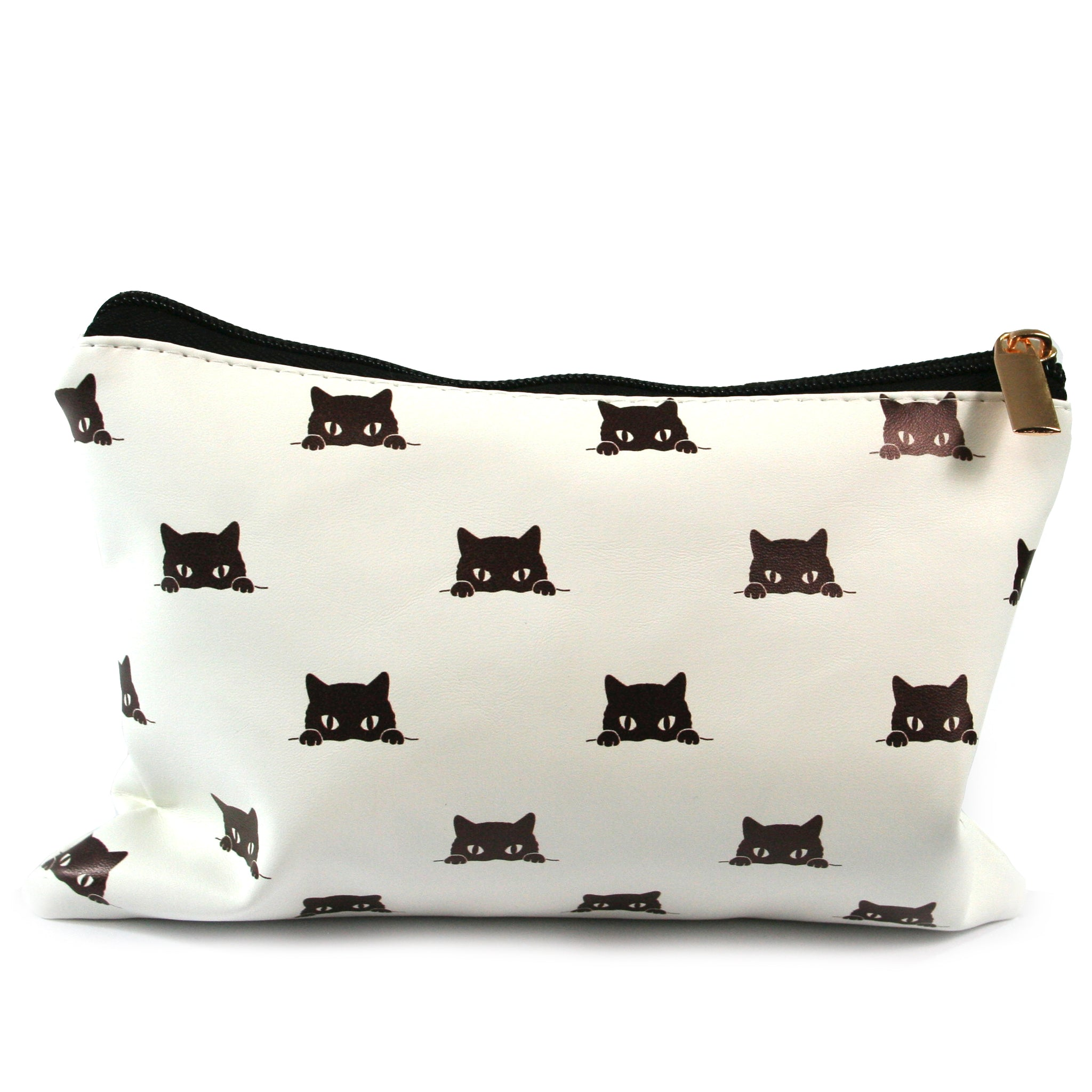 Black Cat Peeping Make-Up / Clutch Bag / Pencil Case