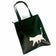 Black & Silver Glitter Cat Faux Leather Shoulder Bag