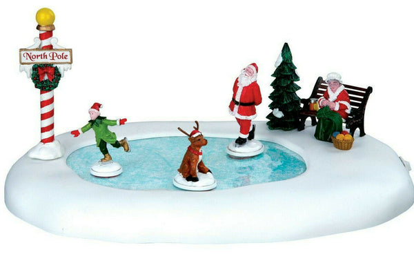 Lemax Christmas Village North Pole Ice Follies Animated Table Accent #64045