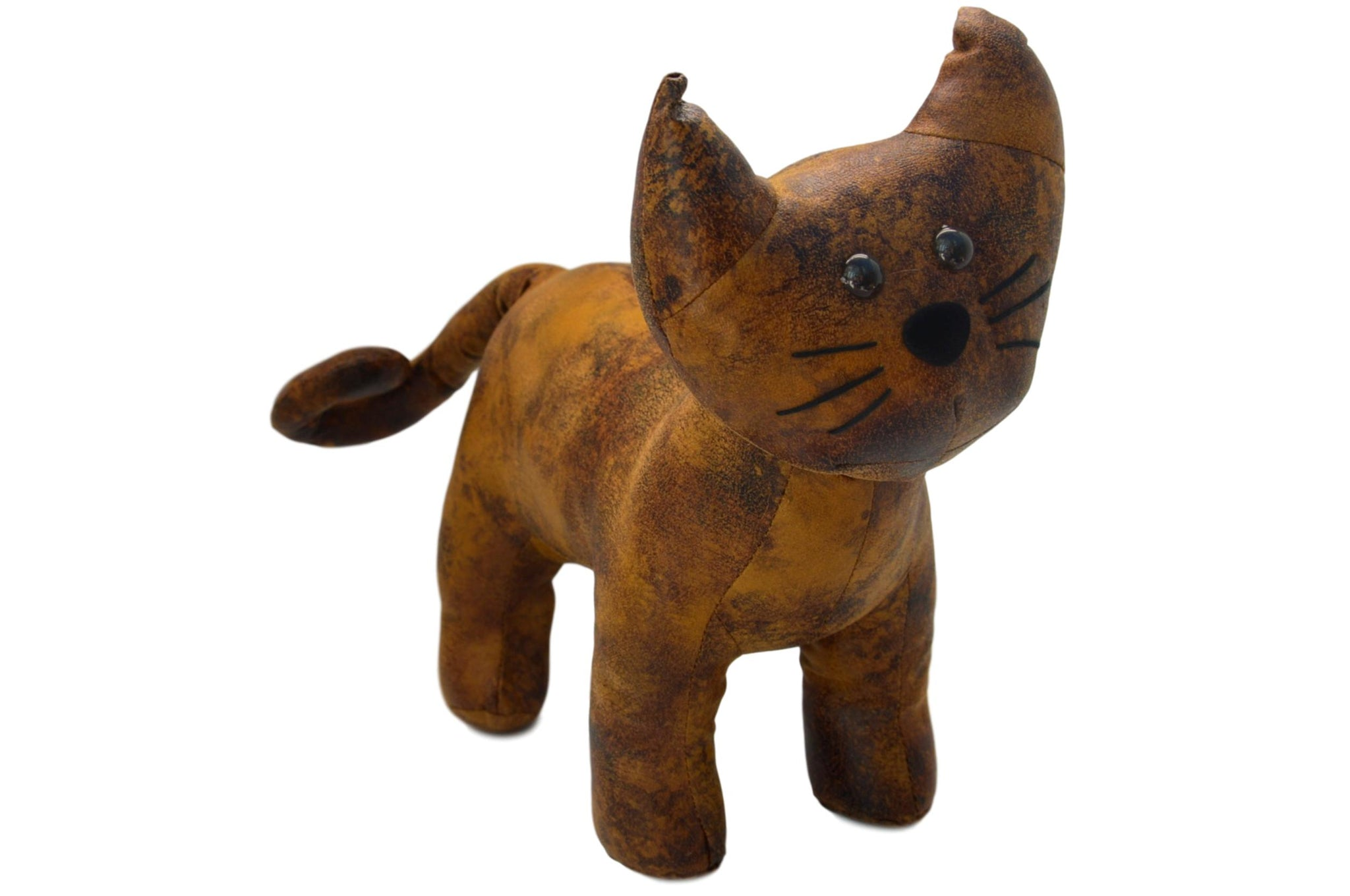 Faux Leather Standing Cat Door Stop