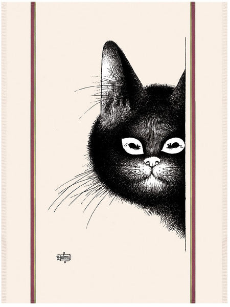 Chats Souris (Smiling Cats) Dubout Cats Tea Towel