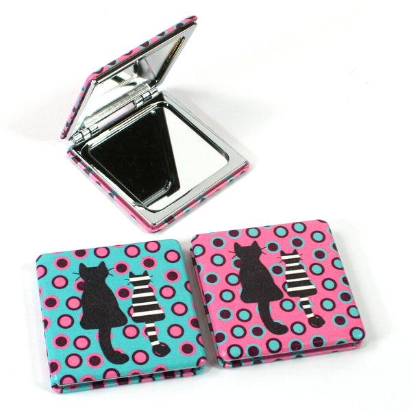Cat Design Compact Mirror