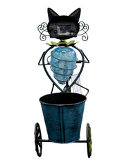 Cat on a Tricycle Solar Light Cat Planter