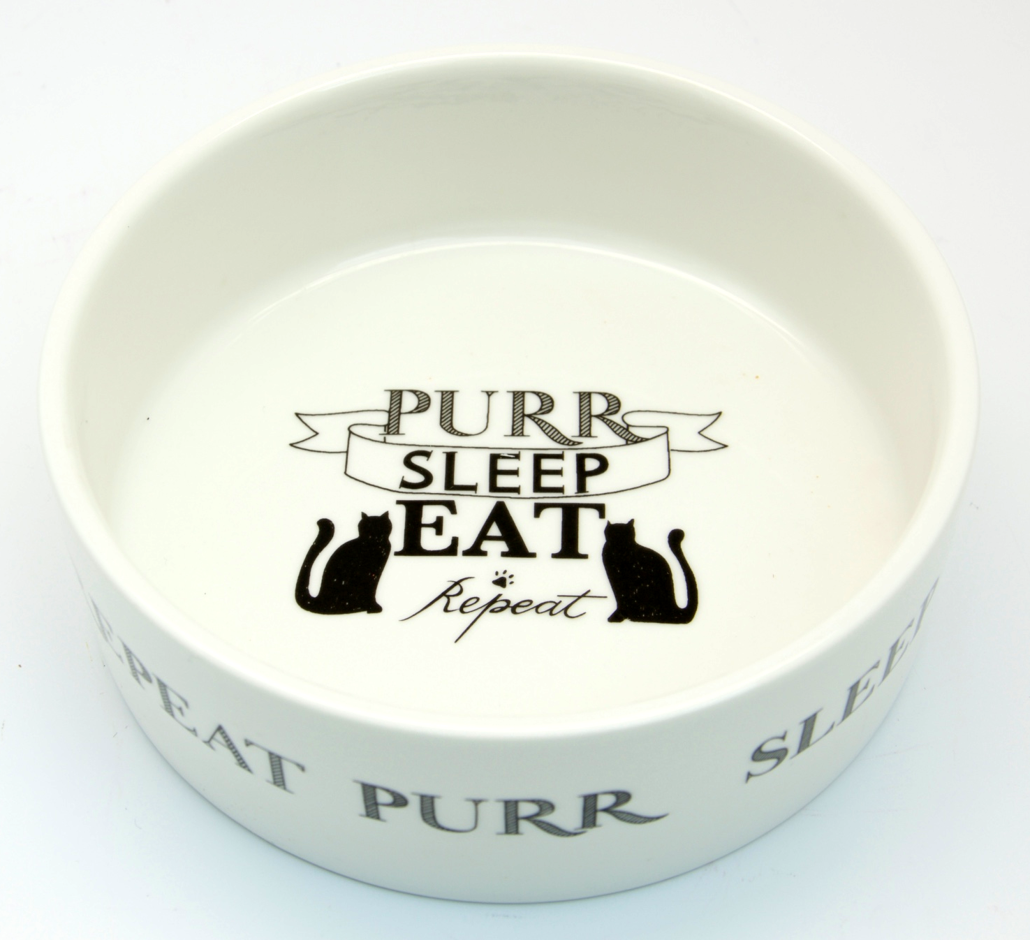 Eat, Sleep, Purr, Repeat, Cat Bowl