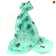 Mint Green Cat Print Scarf