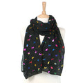 Multicolour Biccari Cat Foil Scarf