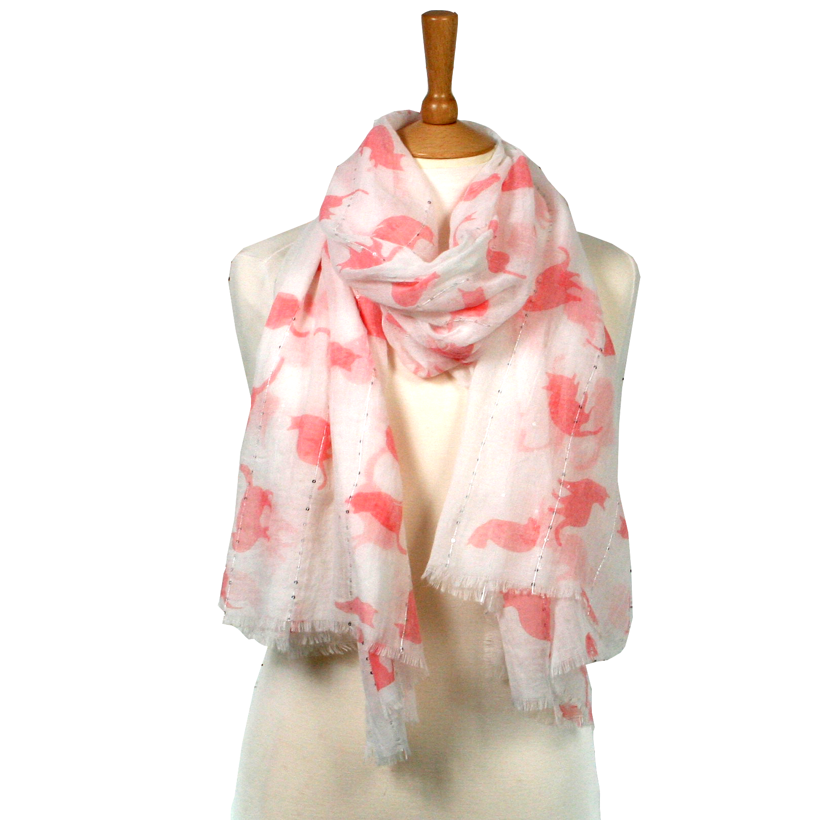Kubu Pink Cat and Sequin Scarf