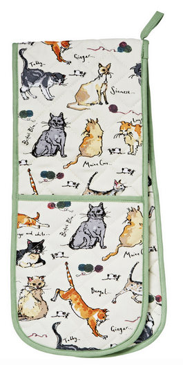 Madeleine Floyd Cat Double Oven Gloves