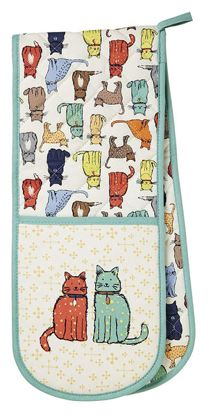 Catwalk Cat Double Oven Gloves