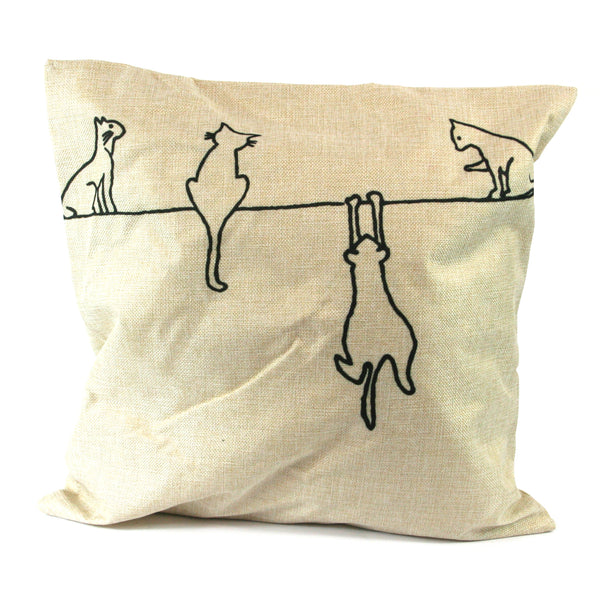 Cats on a Line Cat Cushion
