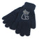 Cat Design Navy Diamante Encrusted Gloves