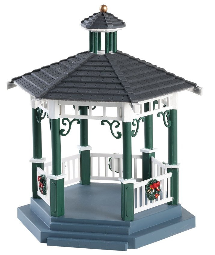 Lemax Christmas Village Victorian Park Gazebo #83369 Table Accent