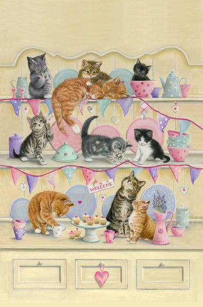 Dresser Kitten Cats Cotton Tea Towel