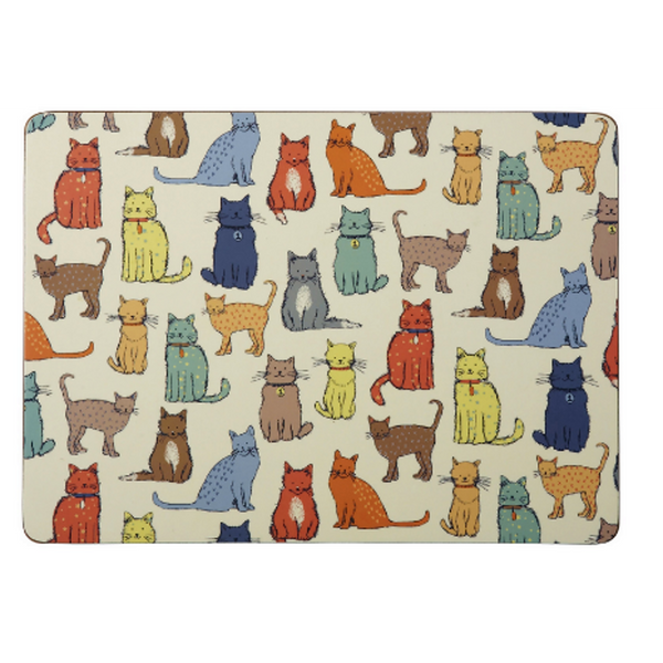 Set of 4 Catwalk Cat Placemats
