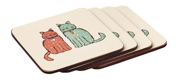 Set of 4 Catwalk Cat Coasters