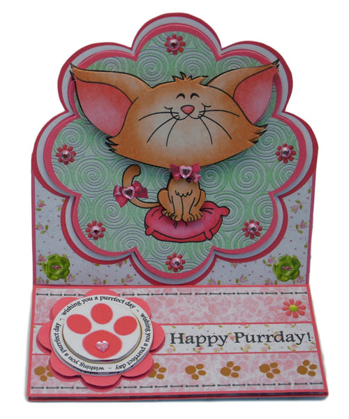 Happy Purrday Birthday Card