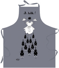 À table (At the Table) Dubout Cats Apron Grey