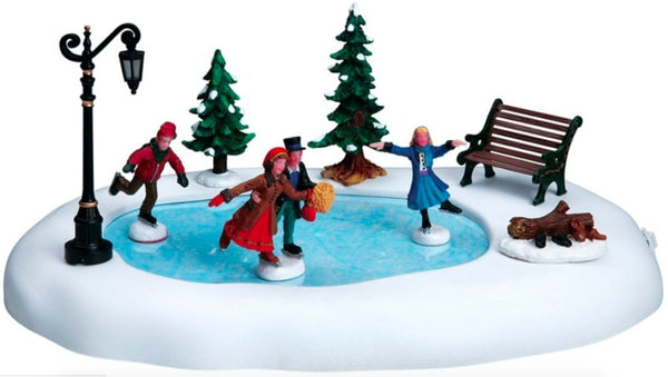 Lemax Christmas Village Winter Skating Animated Table Accent #94024