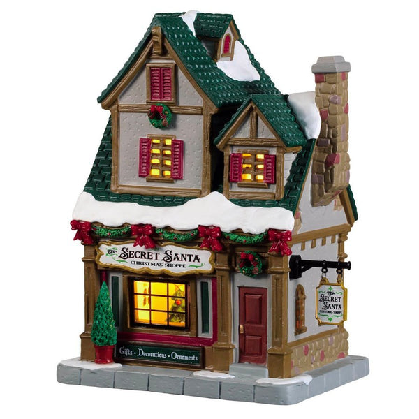 Lemax Christmas Village The Secret Santa Christmas Shoppe #95512