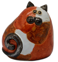 Ceramic Ginger Patches Chubby Cat