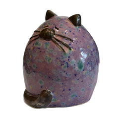 Ceramic Purple Fat Cat