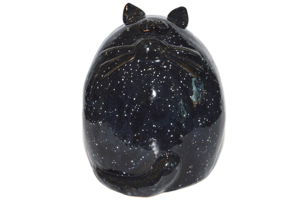 Ceramic Black Fat Cat