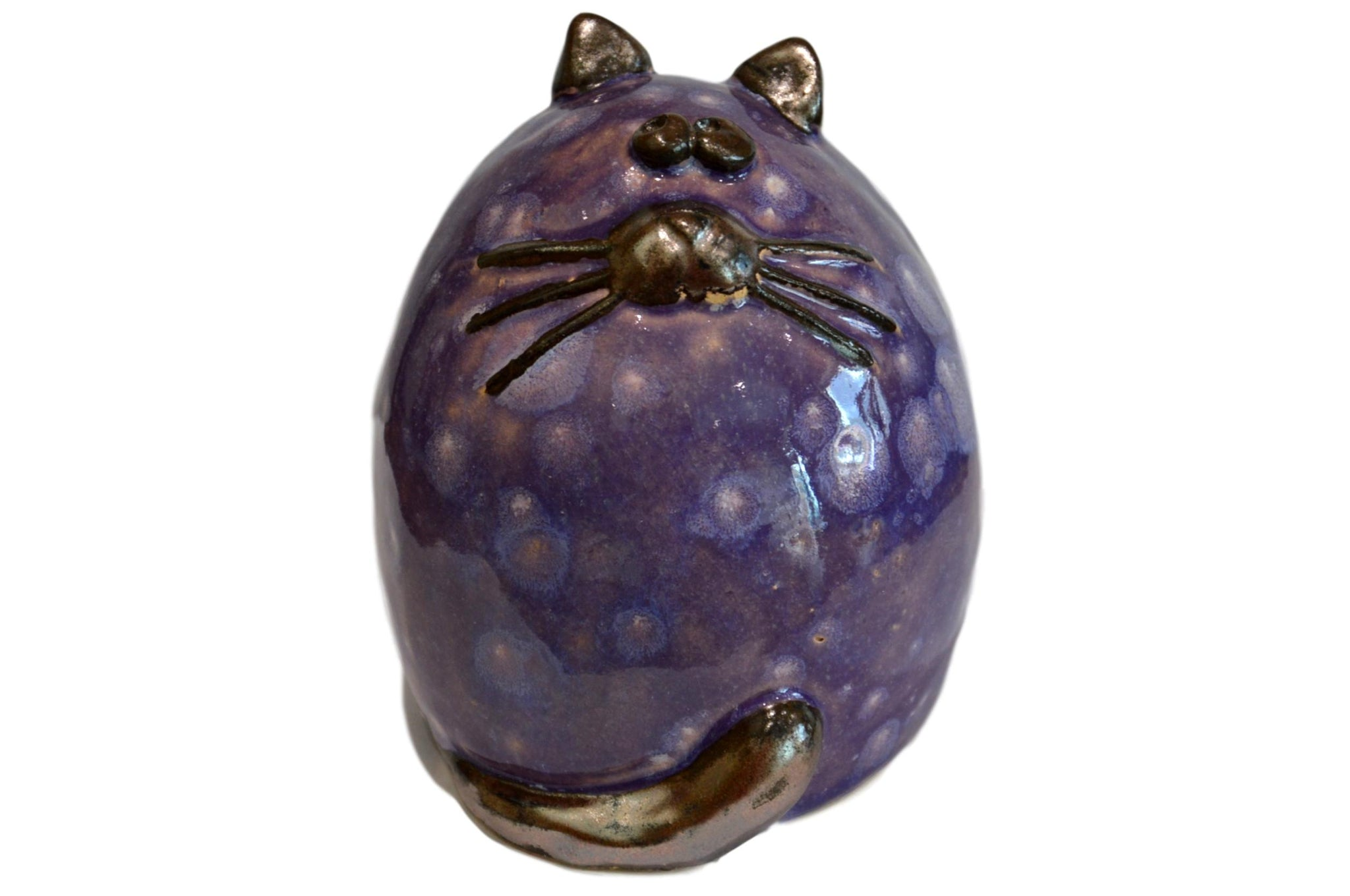 Ceramic Grape Fat Cat