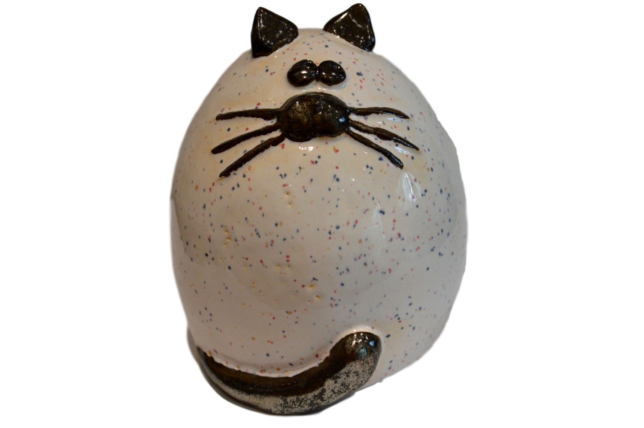 Ceramic White Fat Cat