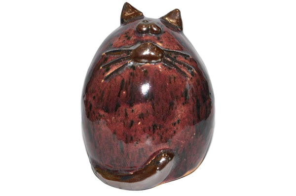 Ceramic Burgundy Fat Cat