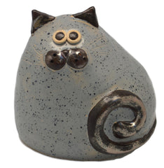 Ceramic Grey Chubby Cat
