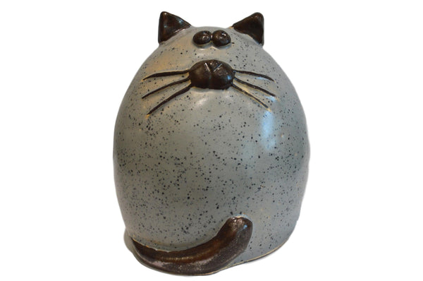 Ceramic Grey Fat Cat