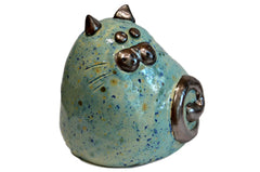 Ceramic Mint Chubby Cat
