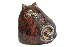 Ceramic Burgundy Chubby Cat
