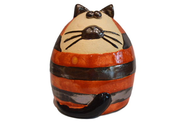 Ceramic Ginger Stripey Fat Cat