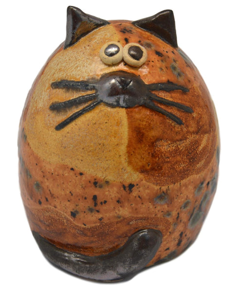 Ceramic Brown Patches Fat Cat