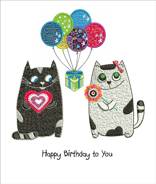 Party Animals Cat Birthday Card