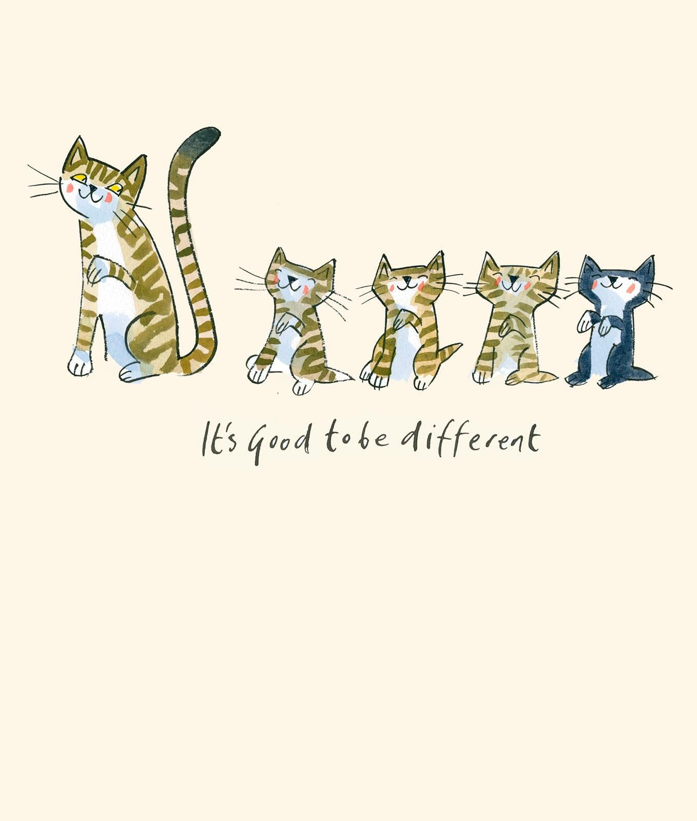 It's Good to be Different Cat Greetings Card