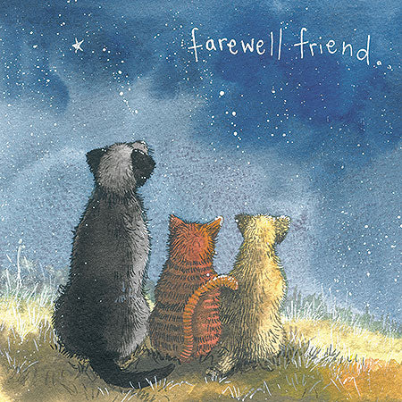 Farewell Friend Cat Card